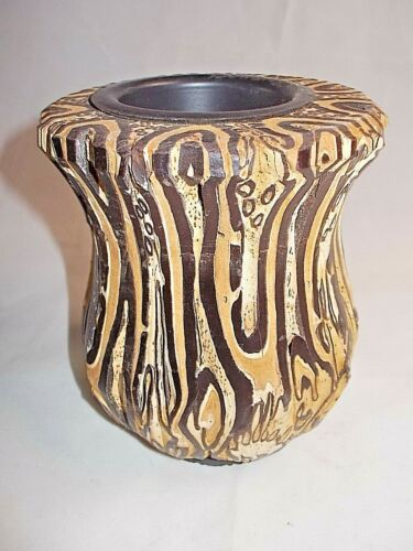 New Zealand PONGA VASE Unique Rare Hand Crafted UNREAL One Of A KIND -9