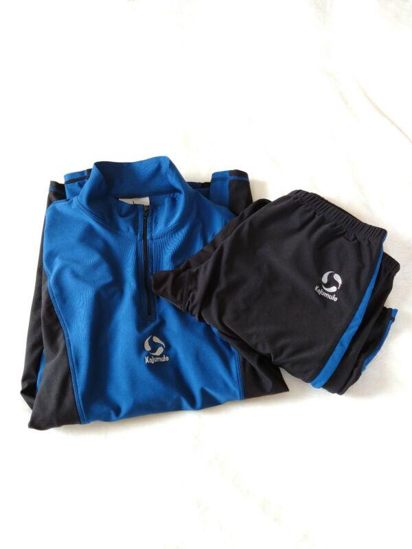 Kajumulo World Soccer Suit Blue Black Youth L/XL Training Kit Alex PASS Academy