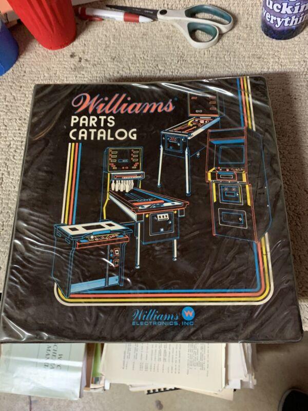 Williams Parts Catalog Hard Cover Binder  Pinball arcade game manual
