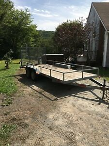 16' x 6' Galvanized Landscaping Trailer