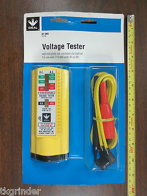Ideal 61-066 Voltage Tester W Standard Leads And Insulated Clips