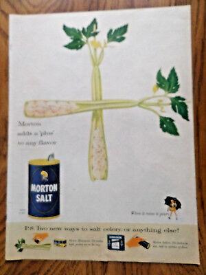 1955 Morton's Salt Ad Celery