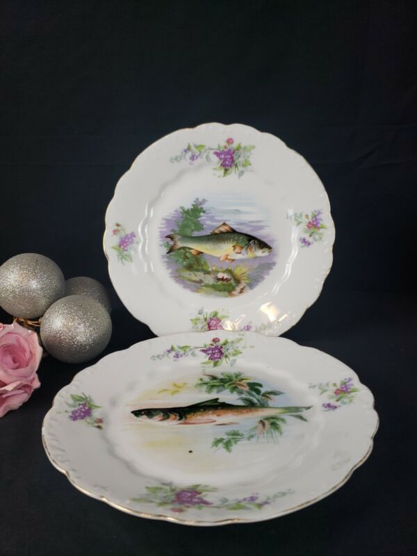 L Straus & Sons- Pattern LSS154 - Dinner Plates Set of 2