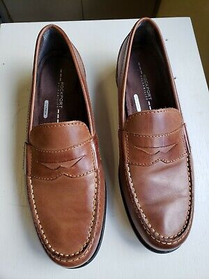 Rockport Walkability Brown/Tan Leather Loafers.   Men's (Brown Rockports)