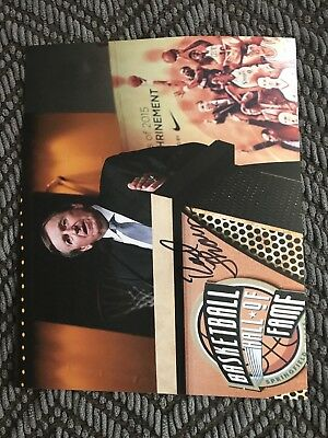Rod Thorn signed 8 X 10 Photo Autographed Basketball HOF (Halloween Thorn)