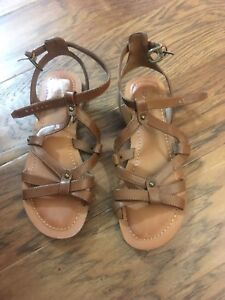24ad34a48e23 Brown short gladiator sandals