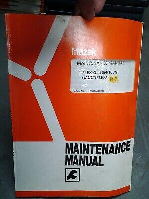 Mazak Maintenance Manual Flex-gl 50n100n Multiplexh957ma0032e Ms-269