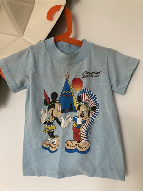 Vintage Shirt Mickey Mouse Tee Kids Size 2 Albuqerque New Mexico