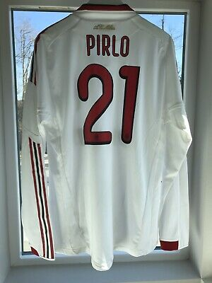 0c4d2b55b0d PIRLO,AC MILAN 2009-10 HOME UCL LS PLAYER ISSUE FORMOTION JERSEY Match