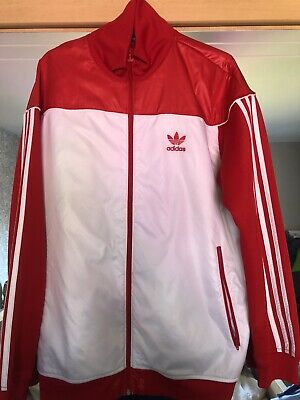 Adidas Jacket Original Red/White Silk Front Size L