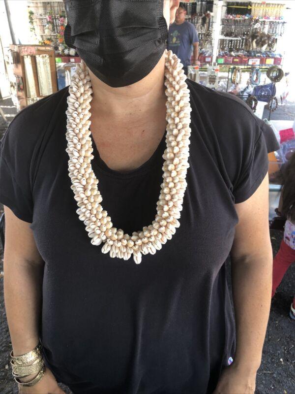 Cowrie Shell Necklace Hawaiian Style Real Seashell Jewelry