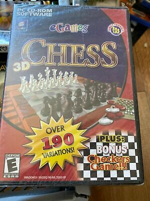 PC CD ROM Game Chess Egames 3D - BRAND NEW AND SEALED