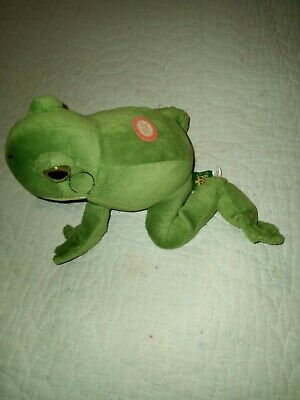 "Tree Frog Plush Wild Republic Croaks Sounds 8"" Long"