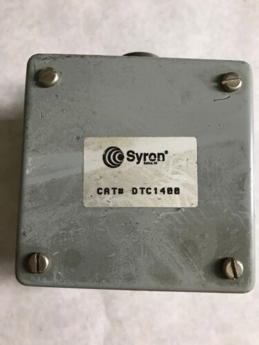 NEW SYRON CAT# DTC1400, SENSOR CABLE JUNCTION BOX,TA