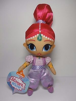 """Nickelodeon Shimmer & Shine Plush Toy 9"""" Shimmer Brand New w/ Tags 2016 Nick Jr."""