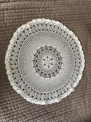 Hand Crocheted Round Doily