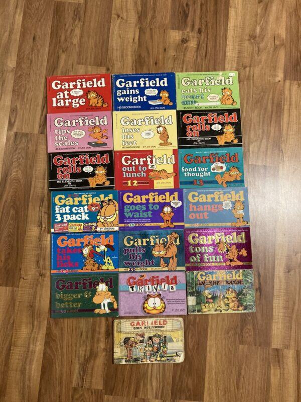 VIntage Lot 19 Garfield Comic Paperback Books.