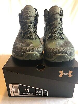 New Under Armour Project Rock Delta DNA Sneakers Size 11 Army Green The Rock
