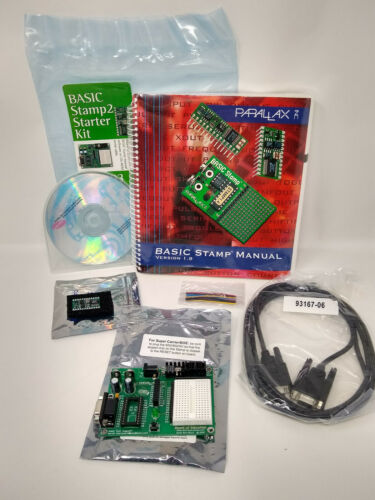 BASIC Stamp2 Starter Kit by Parallax Microcontroller Board of Education Parallax