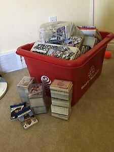 Old hockey and baseball cards for sale
