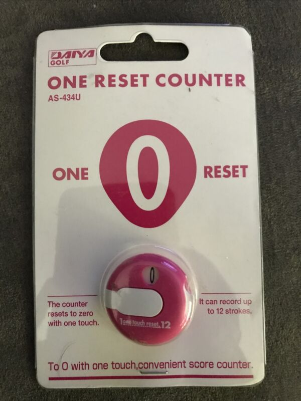 Daiya Golf One Reset Counter Pink Clip On Golf Stroke Score Counter AS-434U NEW