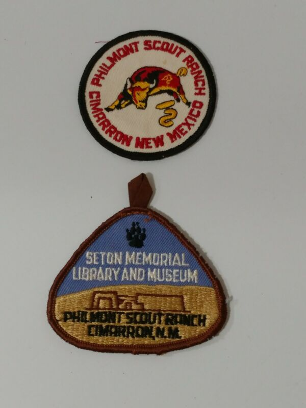 Two 1970s Vintage Boy Scout Philmont Scout Ranch Patchs New Mexico