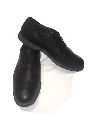 Timberland men's black leather Oxford Dress shoes sz 11 Preowned