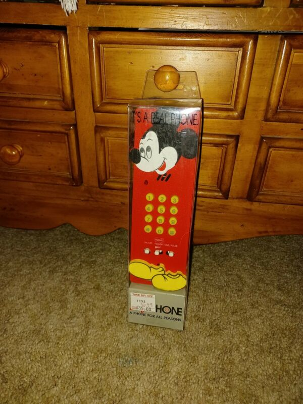 RARE 1992 Recyco Mickey Mouse Soft Phone, NIB!
