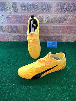 PUMA ONE 20.3 FG FOOTBALL BOOTS - YELLOW / BLACK - SIZE UK 10.5 - BRAND NEW