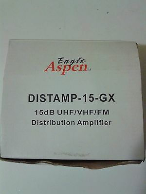 Video-signal-booster (Distribution Amplifier Audio Video Signal Booster Eagle Aspen DISTAMP-15GX 15 dB)