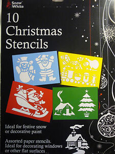 10-Christmas-Stencils-Ideal-for-Windows-or-Walls-Great-for-Spray-Snow