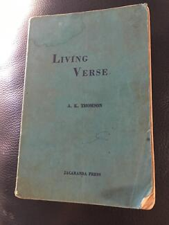 Living Verse by A K Thompson 1960