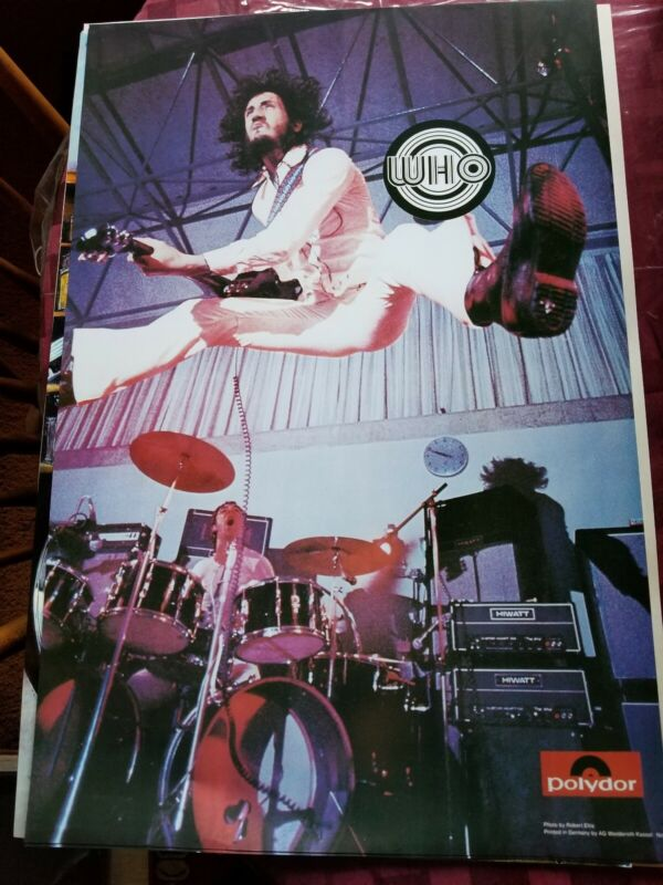 THE WHO ON STAGE MID 70S GERMANY  PROMO POSTER