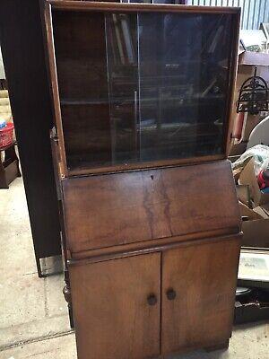 Vintage Old Antique Bureau Bookcase Display Cabinet  20/7/Z