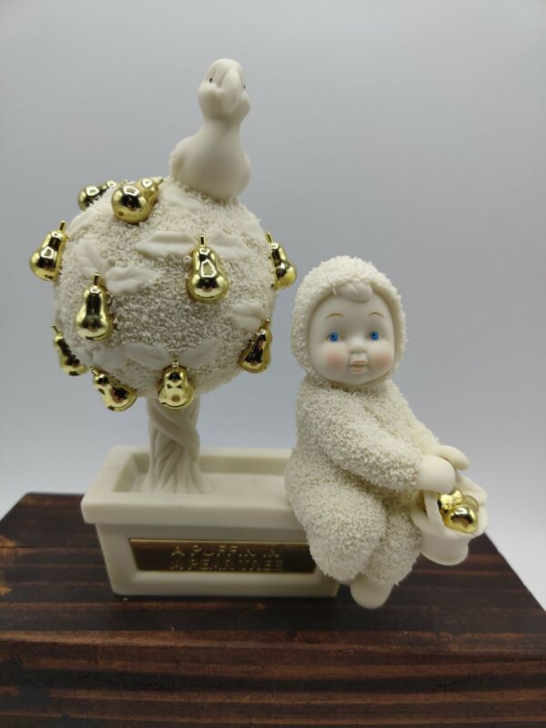 """VTG 2001 Dept 56 Snowbabies """"A Puffin in a Pear Tree"""" Figurine Christmas Decor"""