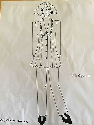 Vintage 80s 90s Pop Fashion Couture Pattern #775 Flared Top Macy's Clothing NY