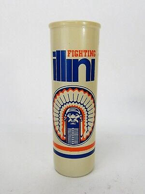 (Vintage Illinois Fighting Illini Glass Candle)