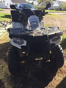 2014 Polaris Sportsman 570 touring with plow
