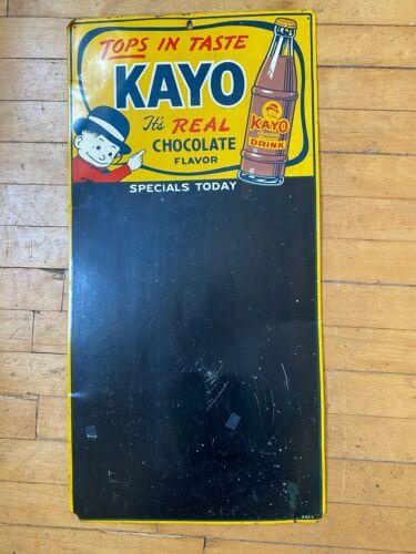 RARE Vintage Kayo Chocolate Beverage Menu Board Sign
