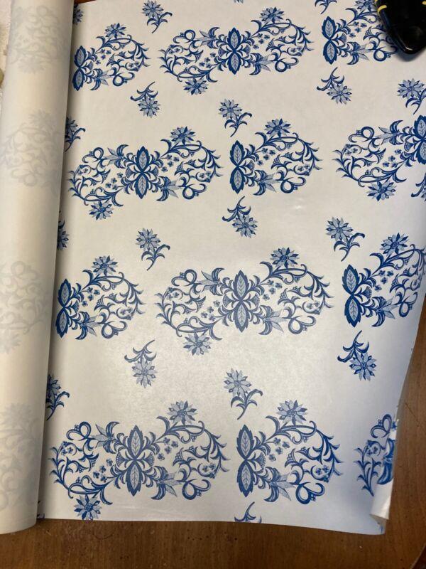 Blue Onion Danube Teapot Plate MatcH Gift Wrap Wall Shelf Paper Drawer Liner