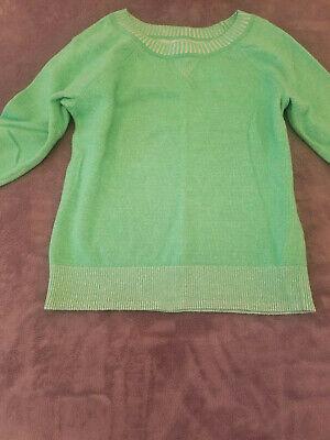 St Patrick's Day J. Crew Green 3/4 Sleeve Womens Sweater Sz Small