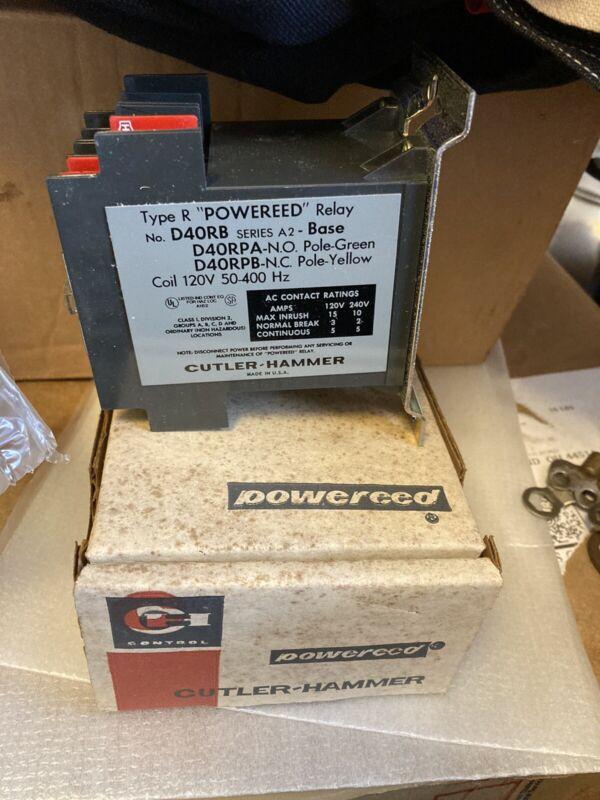Reed Relay D40RBA Type R Cutler Hammer Powered 120V 50-400Hz