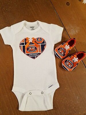 Auburn Tigers Baby Girl 2 Piece Tailgating Outfit 0-3 Months Auburn University