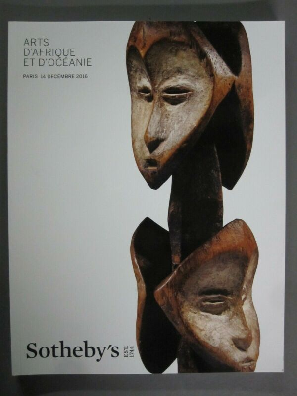 Sotheby 12/14/16 PF1618 African Tribal and Oceania figures masks