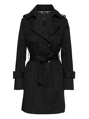 Banana Republic Water-Resistant Classic Trench Coat, Black SIZE S  #361557 (Black Water Resistant Coat)