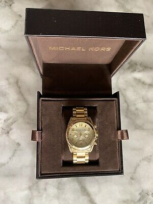 Preloved Michael Kors MK5166 Golden Blair Chronograph Glitz Ladies Wrist Watch