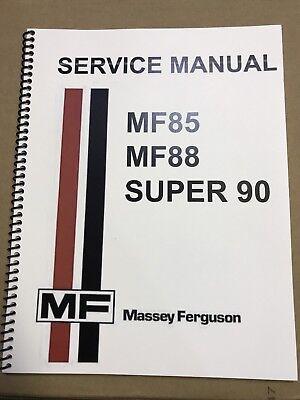 - SUPER 90 Massey Ferguson Tractor Technical Service Shop Repair Manual MF90 MF 90