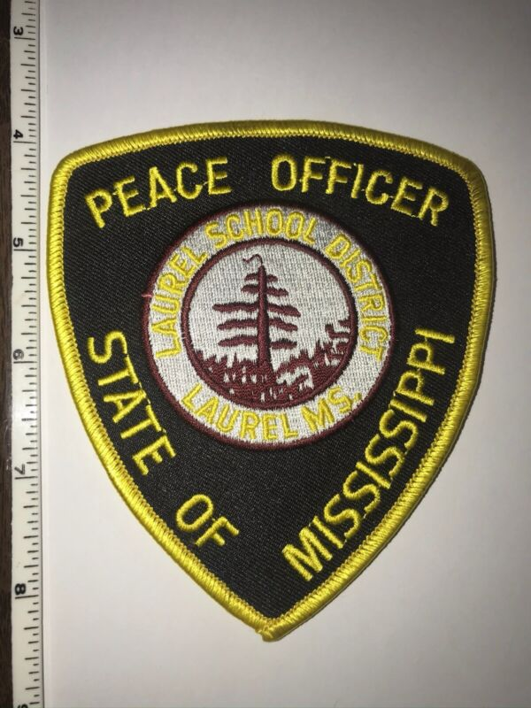 Laurel Mississippi Peace Officer Police Shoulder Patch New