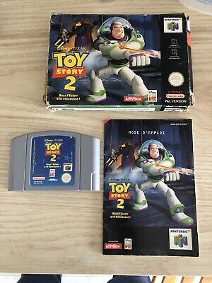 NINTENDO 64 TOY STORY 2 Con Manuale Pal Raro N64 (scatola e manuale in francese)