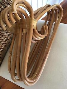 Cane Coat Hangers x 8 Elanora Heights Pittwater Area Preview